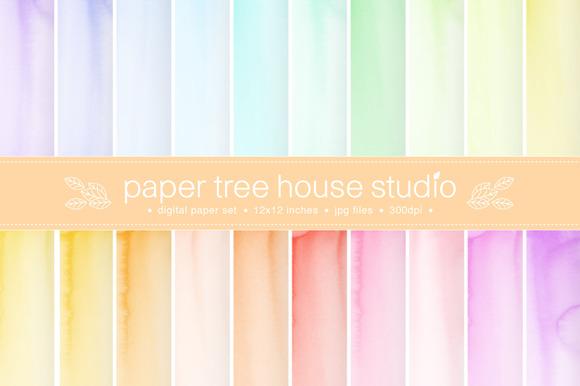 20 Watercolor Digital Papers