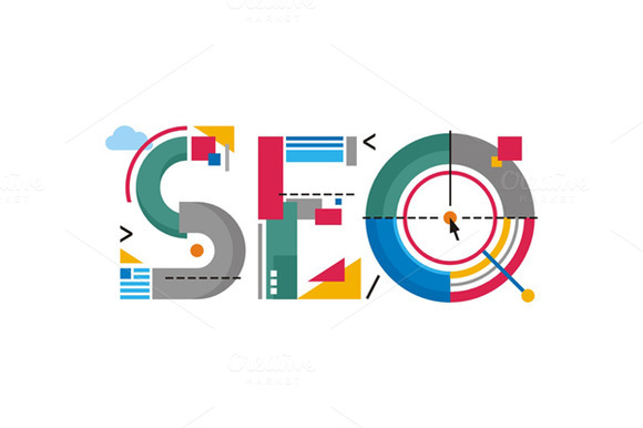 SEO Word Logo Sign