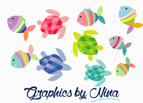 Fish And Sea Turtles Clipart