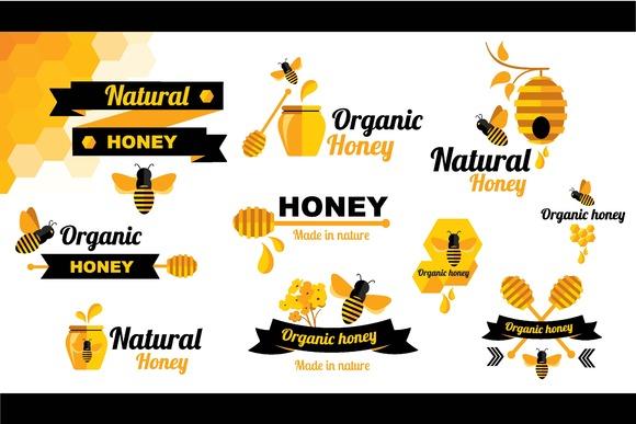 10 Logos Honey Bee