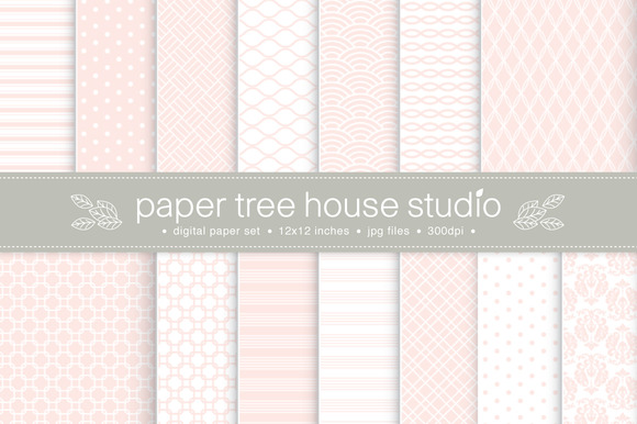 14 Blush Pink Digital Papers