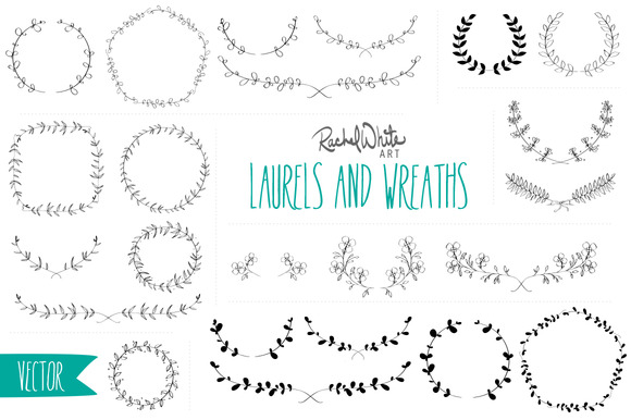 Vector Laurels Wreaths