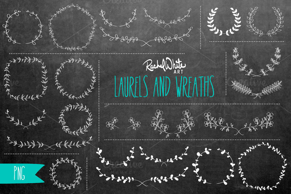 Laurels Wreaths Clip Art