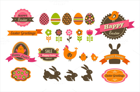 Easter Icons Patterns Bundle
