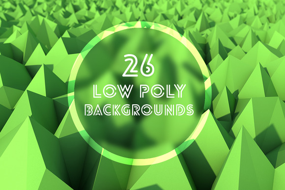 26 Abstract Low Poly Backgrounds