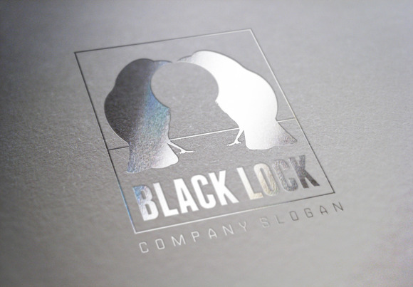 Black Lock Logo