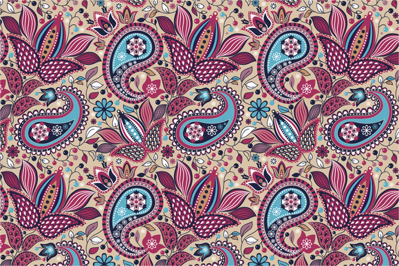 Seamless Pattern East Garden