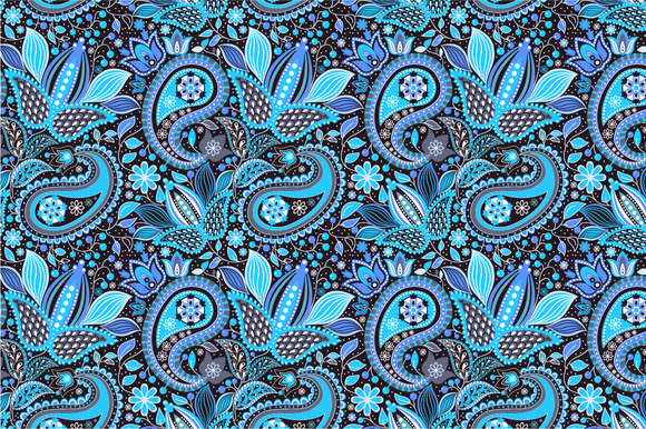 Seamless Pattern Night Garden