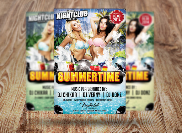 Summertime Party Flyer