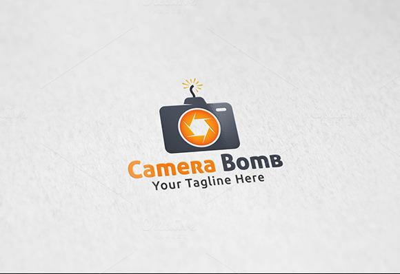 Camera Bomb Logo Template