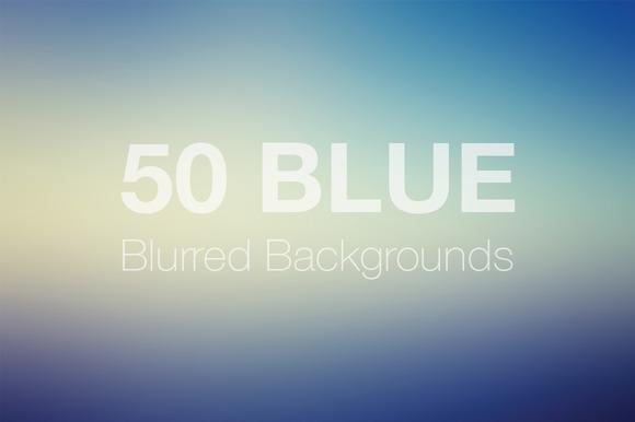 50 Blue Blurred Backgrounds Vol 2