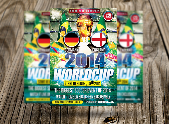2014 WorldCup Soccer Flyer