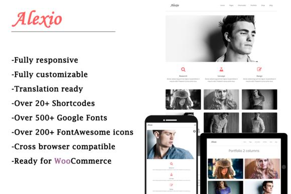 Alexio Minimalist WordPress Theme