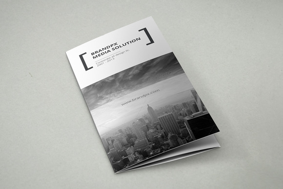 Creative White Trifold Brochure