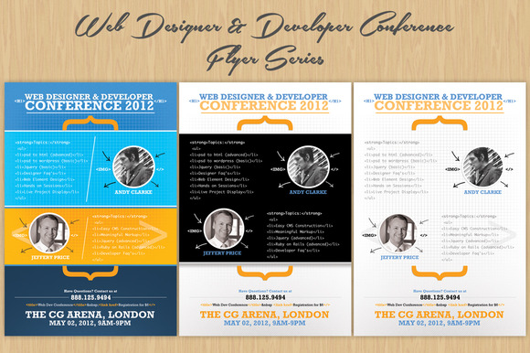 Web Designer Developer Flyers
