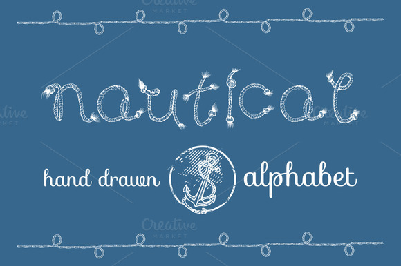 Nautical Rope Hand Drawn Alphabet