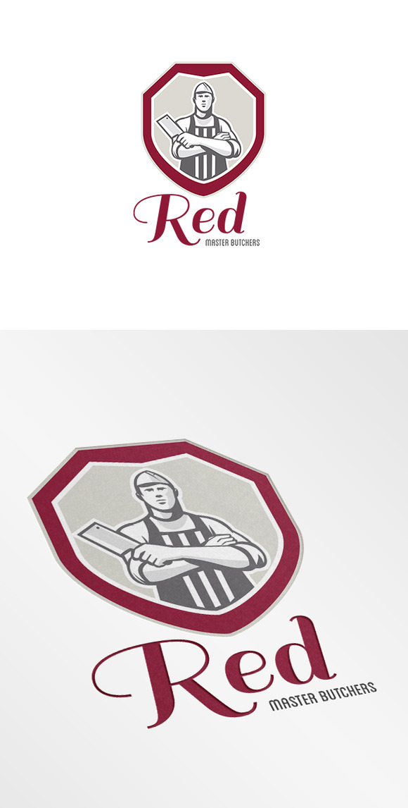 Red Master Butchers Logo