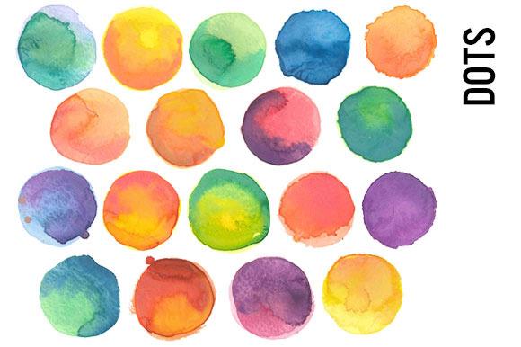 Watercolor Dots Clip Art
