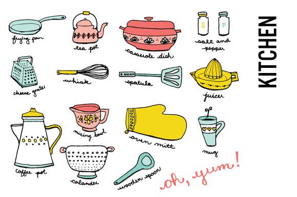 Kitchen Doodle Clip Art
