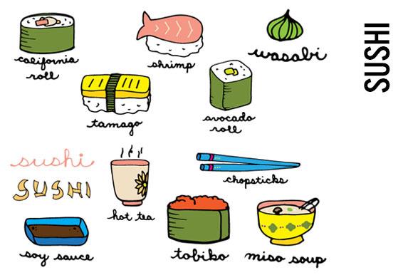 Sushi Doodle Clip Art
