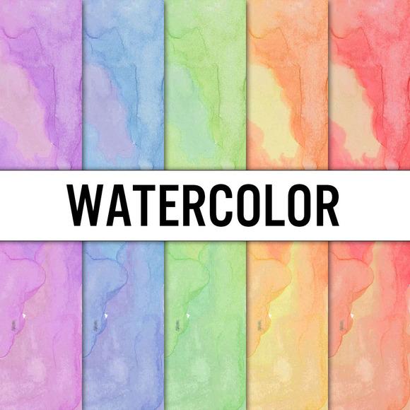 Watercolor Digital Paper 5 Pack