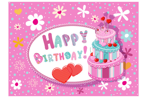 Greeting Card Happy Birthday