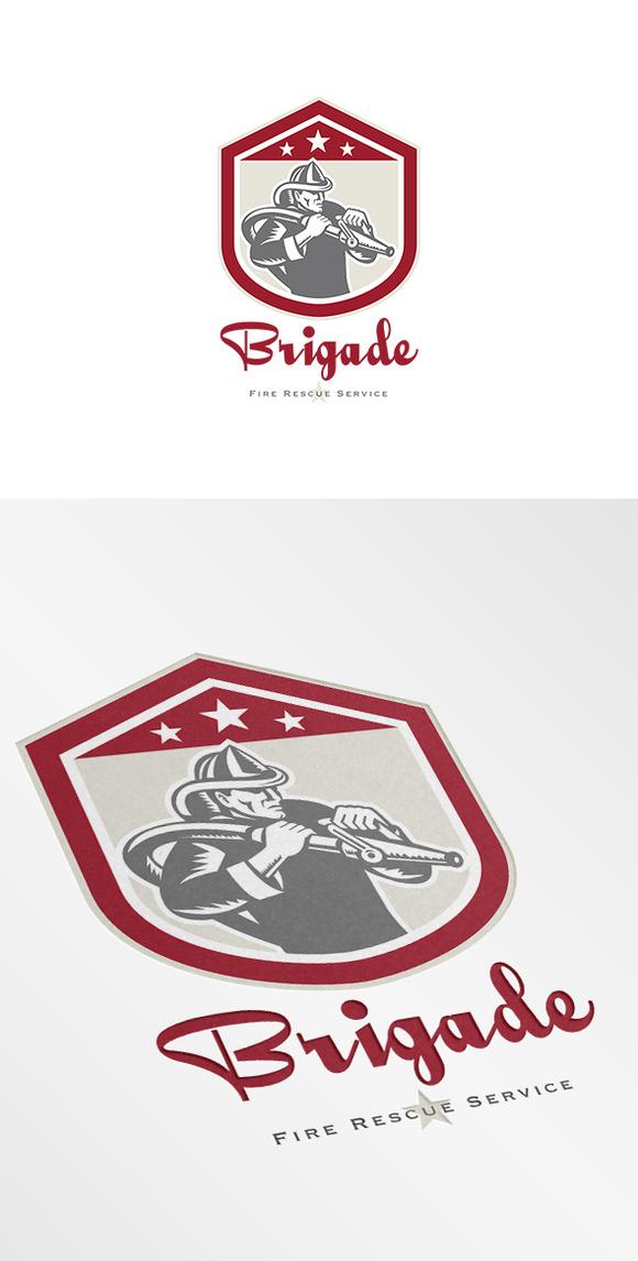 Brigade Fire Rescue Service Logo