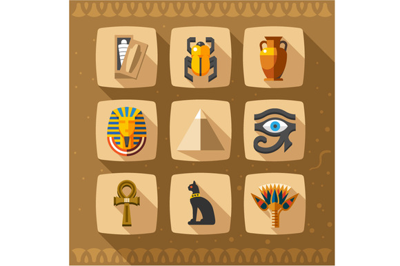 Egypt Icons And Design Elements Isol