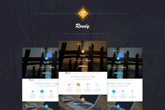 Roudy Creative One Page PSD Template