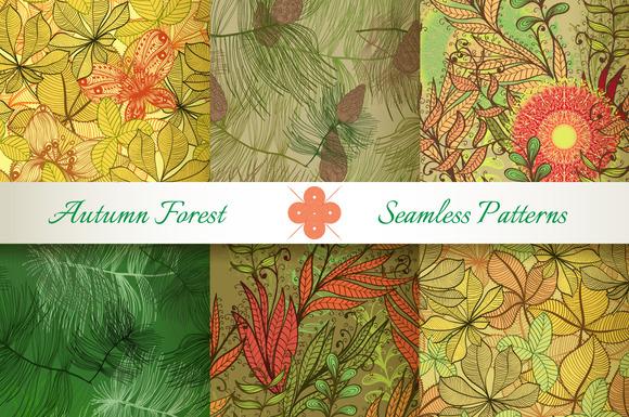 Seamless Autumn Florals