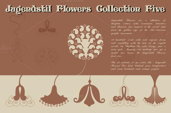 Jugendstil Flowers Collection Five