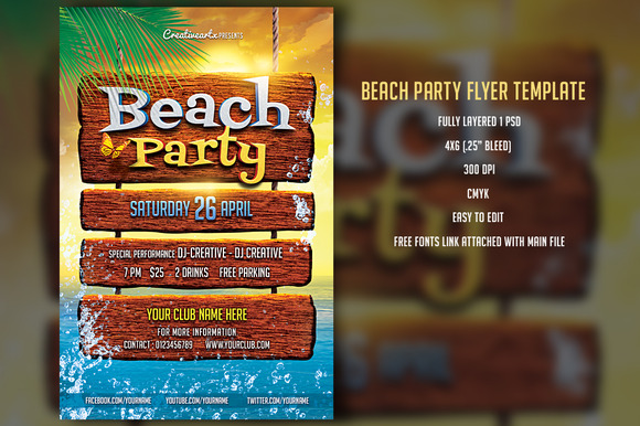 Beach Party Fyler