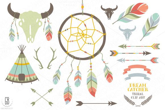 Dream Catcher Bison Skull Feathers