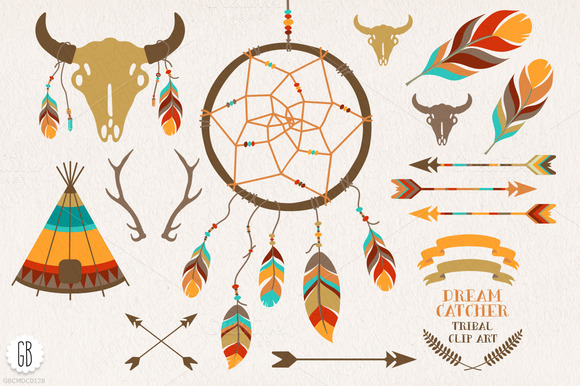 Dream Catcher Buffalo Skull Arrows