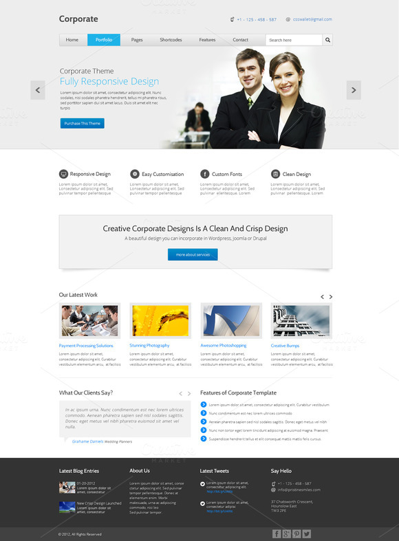 Corporate Multipurpose PSD Template