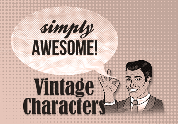 Old-fashioned Vintage Characters