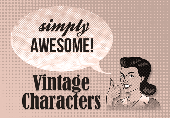 Vintage Old-fashioned Characters
