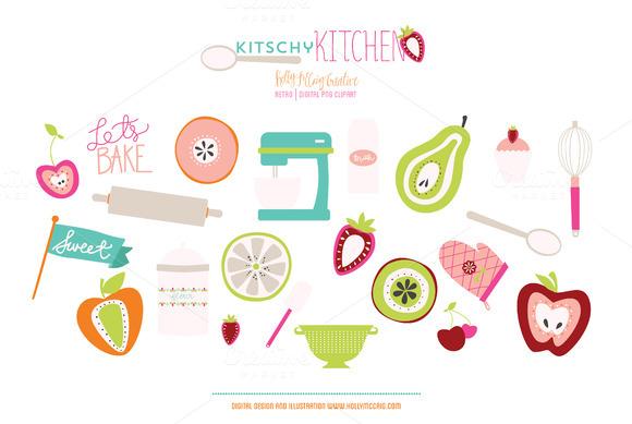 Kitschy Kitchen PNG Clip Art