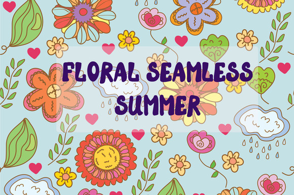 Floral Seamless Summer Set
