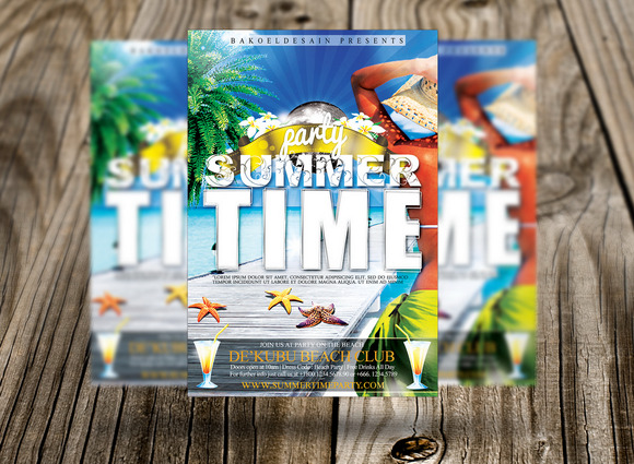 Summer Time Party Flyer