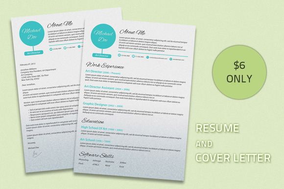 Modern Resume With Cover Letter