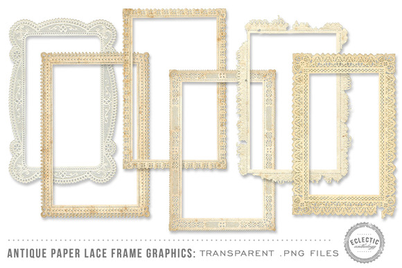 Antique Paper Lace Frames