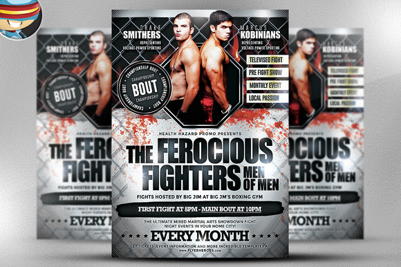 Ferocious Fighters Flyer Template