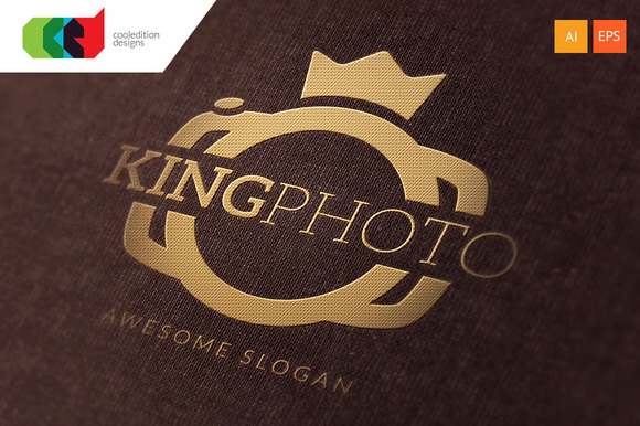 King Photo Logo Template