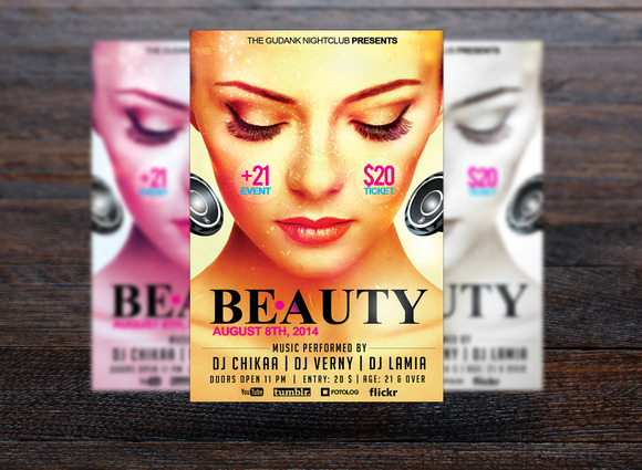 Beauty Party Flyer