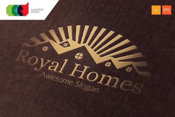 Royal Homes Logo Template