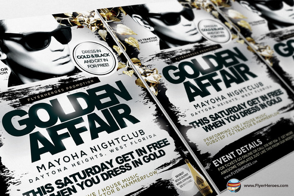 Golden Affair PSD Flyer Template