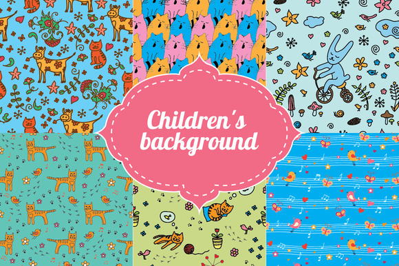 Seamless Patterns For Childrens