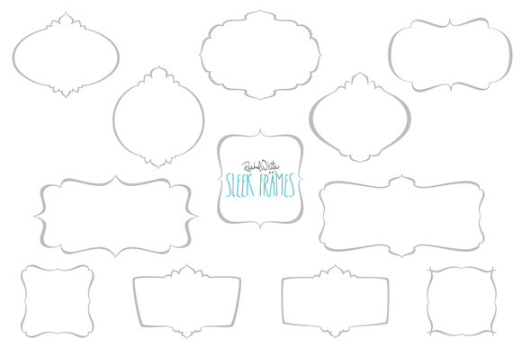 Sleek Frames Vector PNG