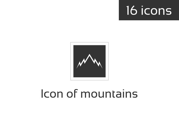 Icon Of Mountains